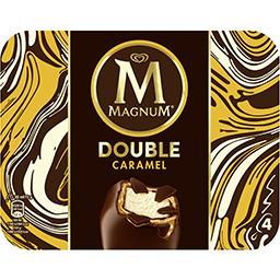 Boite de 4 bâtonnets de glace Magnum Double Chocolat - 352 ml