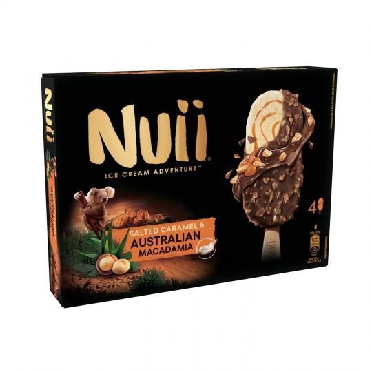Lot de 2 boîtes de 4 bâtonnets glacés Nuii (Plusieurs variétés)