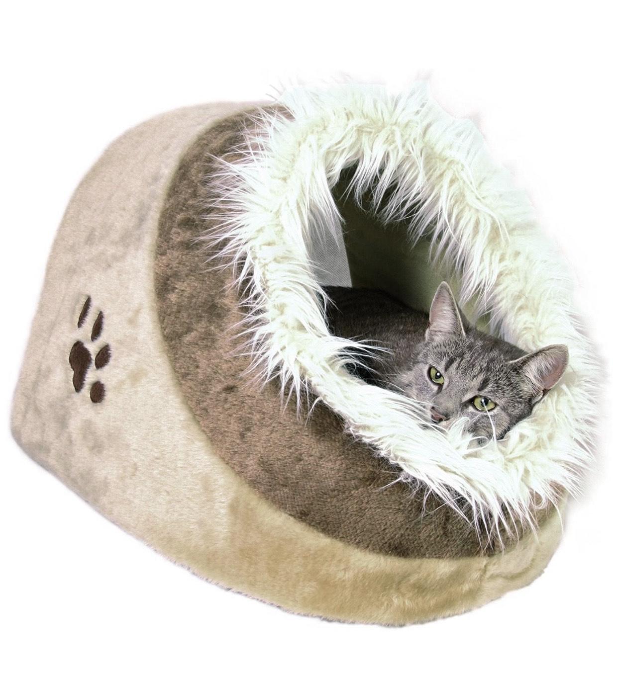 Panier à chat Abri Douillet Minou Trixie - 41 × 30 × 50cm