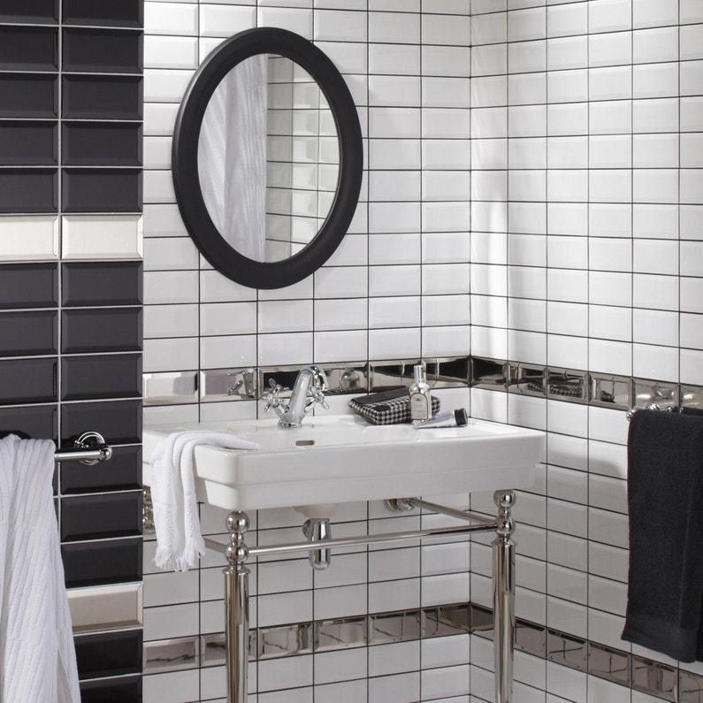Carrelage Mur Forte Uni Blanc Brillante Metro Artens 7 5 X 15 Cm Dealabs Com