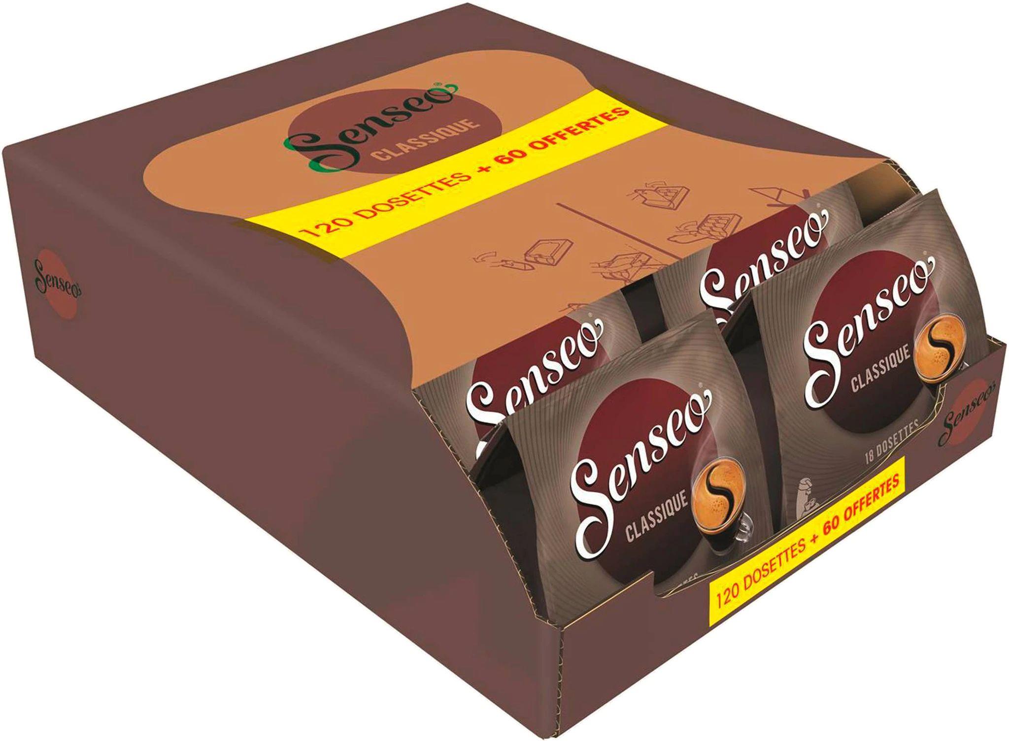 180 dosettes de café Senseo (Classique ou Corsé)