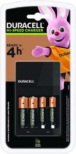 Chargeur de Piles Duracell 4 Heures + 4 Piles rechargeables incluses (2 AA + 2 AAA)