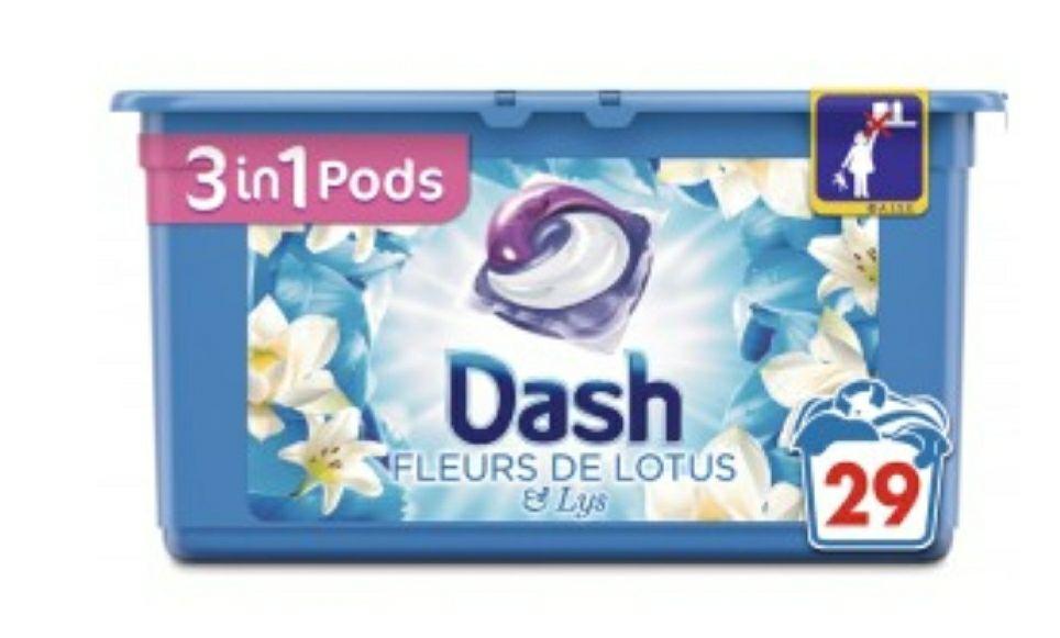 Boite de Lessive Dash Pods 3 en 1 - 29 lavages (Via 5.36€ sur la carte fidélité)