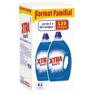 Lot de 2 bidons de Lessive liquide Total X-Tra - 120 lavages (via 10.43€ fidélité)