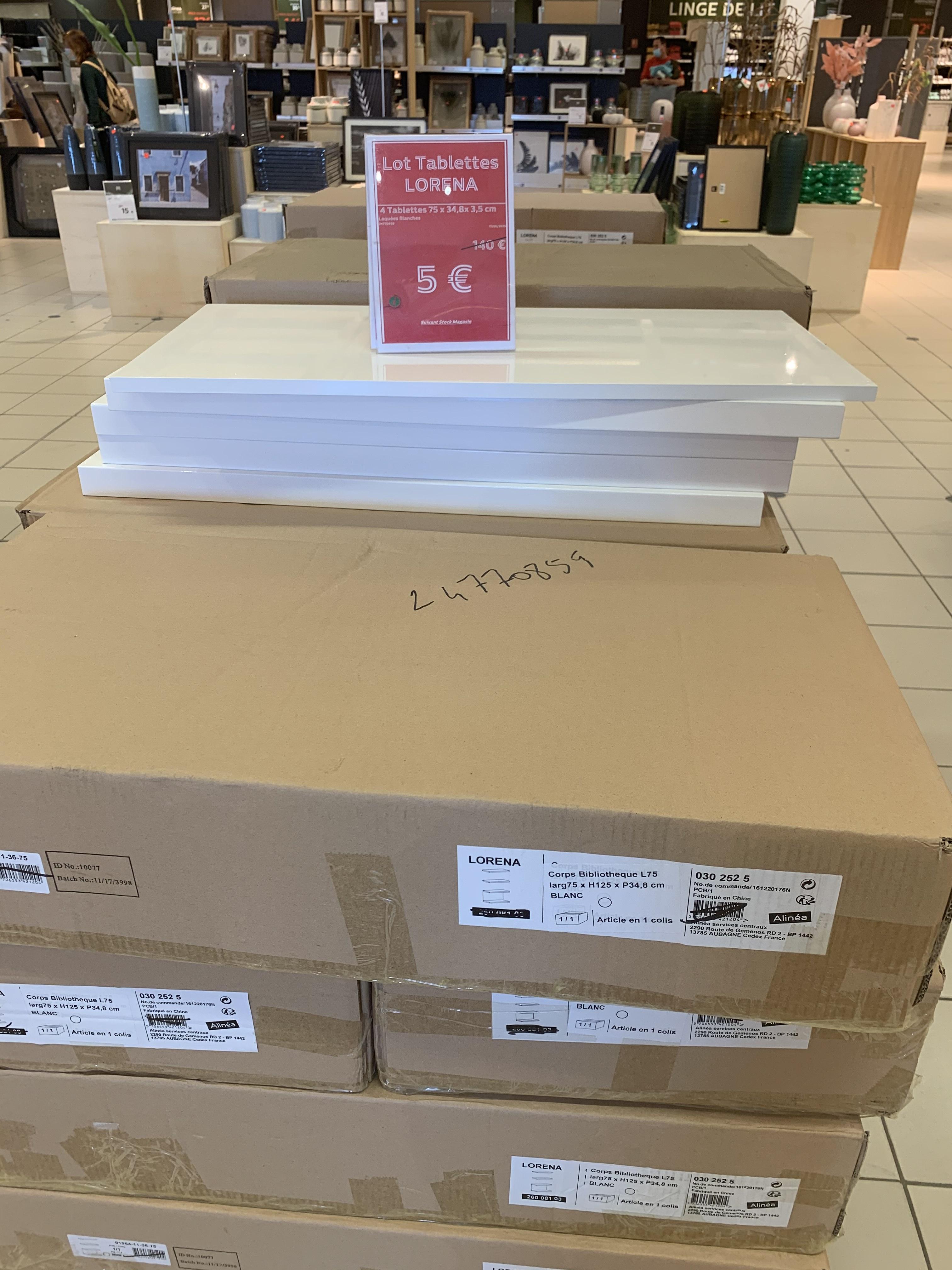 Lot de 4 Tablettes corps de bibliothèque Lorena - Villeparisis (77)
