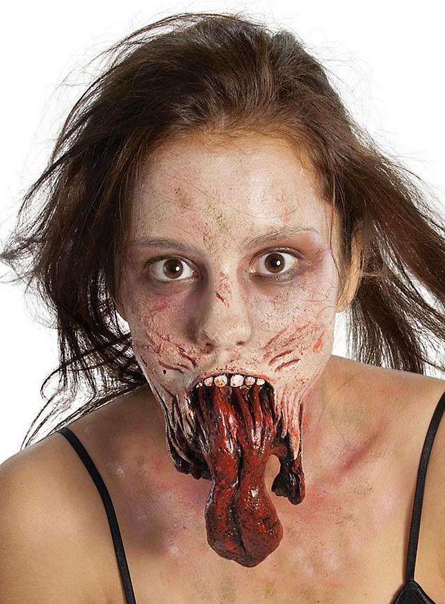 Prothèse en latex Mâchoire de zombie licence officielle The Walking Dead (maskworld.com)