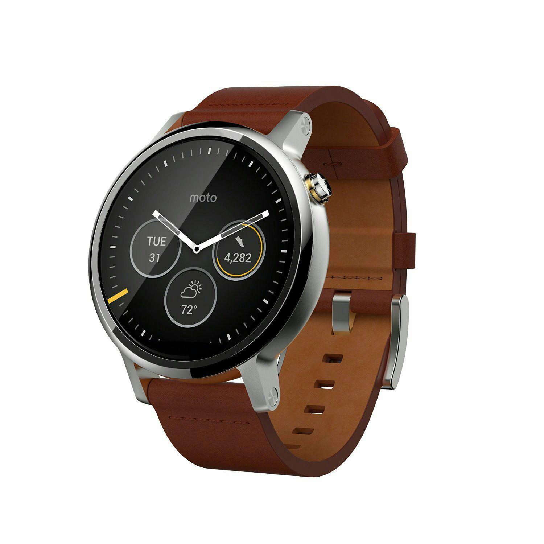 Montre connectée Motorola Moto 360 V2 - Cognac