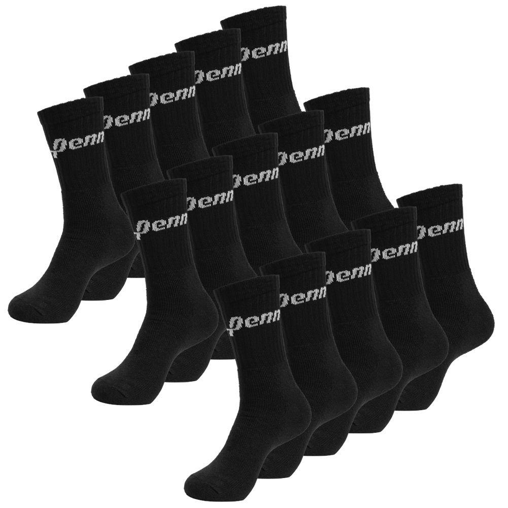 Lot de 15 Paires de Chaussettes de sport Penn - Noir ou Blanc, Tailles 39 à 46