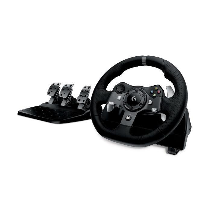 Volant de course Logitech G920 + pédalier 3 pédales pour Xbox One et PC