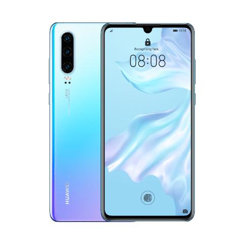 "Smartphone 6.1"" Huawei P30 - Full HD OLED, 6 Go RAM, 128 Go ROM, Kirin 980 + Étui portefeuille"