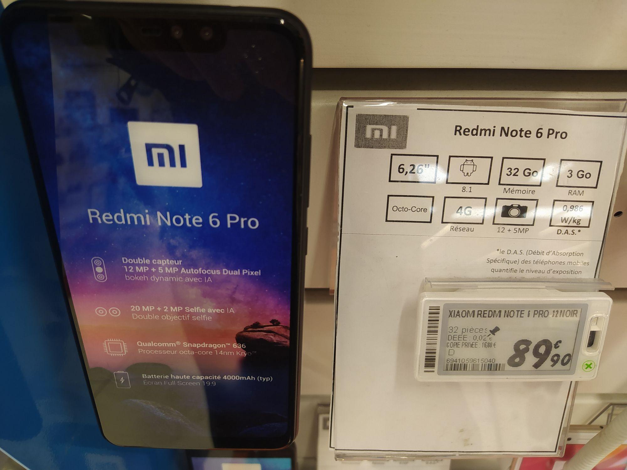 "Smartphone 6.26"" Xiaomi Redmi Note 6 Pro - 3 Go RAM, 32 Go - Qwartz Villeneuve-la-Garenne (92)"