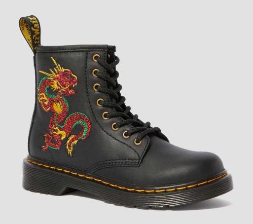 Sélection de Chaussures Boots Dr. Martens en promotion - Ex : 1460 Lounge Lizard Junior pour Enfants - Diverses tailles
