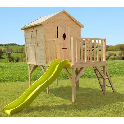 Cabane de jeu en bois sur pilotis pour jardin Morgane - 3,08 x 2,29 x 2,35 m