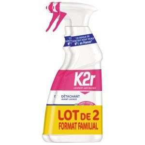 Lot de 2 pistolets K2R détachants avant lavage - 2x 750ml (Via 5.43€ sur la Carte)