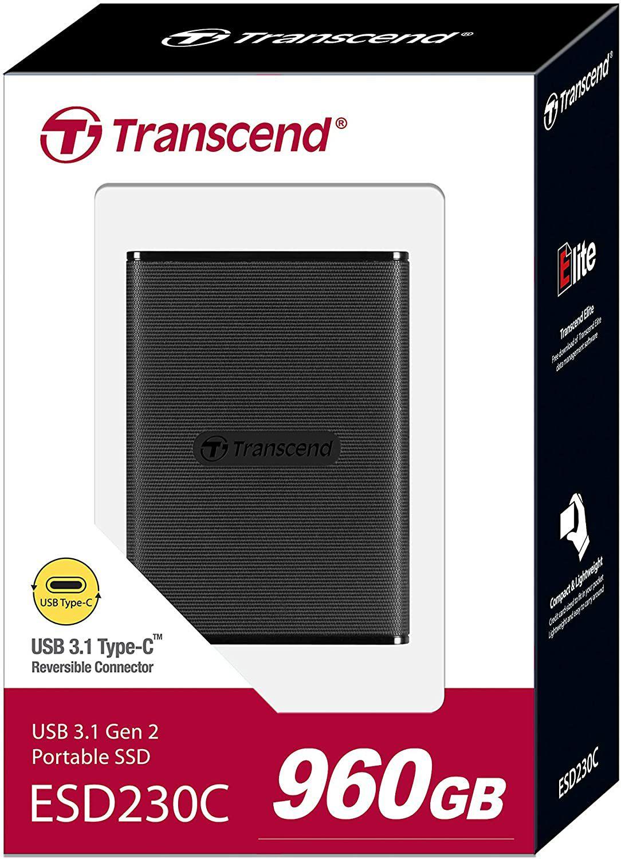 SSD Externe Transcend - 960 Go - 3D NAND