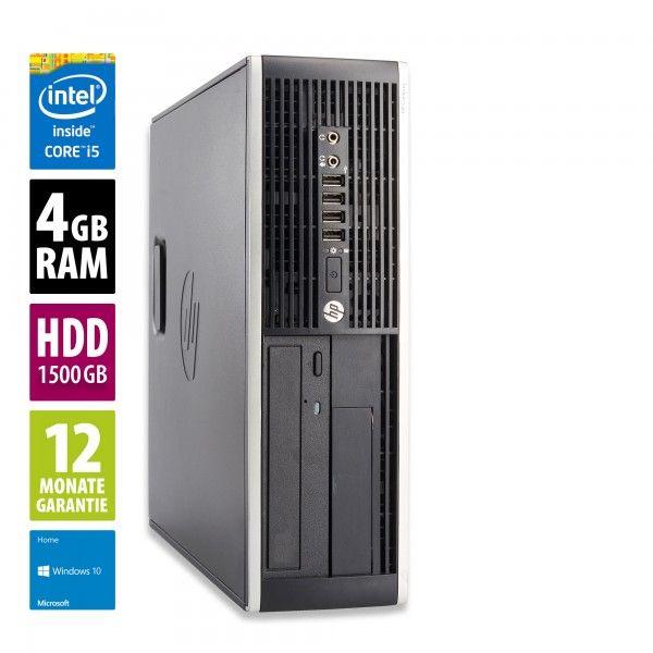 PC Fixe HP Pro 6300 SFF - Intel Core i5-3570 (3.4 Ghz), 4 Go RAM, HDD 1.5 To, Lecteur DVD-RW, Windows 10 Home (Reconditionné A - afbshop.de)