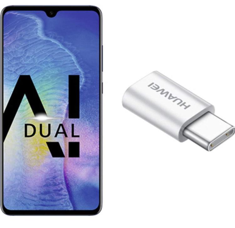 "Smartphone 6.53"" Huawei Mate 20 - FHD+, Kirin 980, 4 Go RAM, 128 Go, Bleu"
