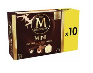 Boîte de 10 Glaces Magnum Mini (Variétés au choix) - 443g (Via BDR et 1.15€ sur la carte)