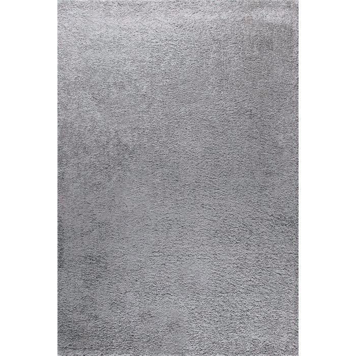 Tapis de salon Shaggy Trendy 30mm (160x230 cm) - Gris