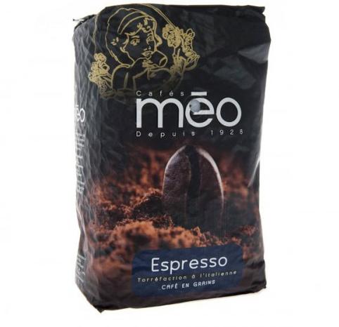 Café Torréfaction à l'italienne Méo Espresso - Grains 1Kg (meo.fr)
