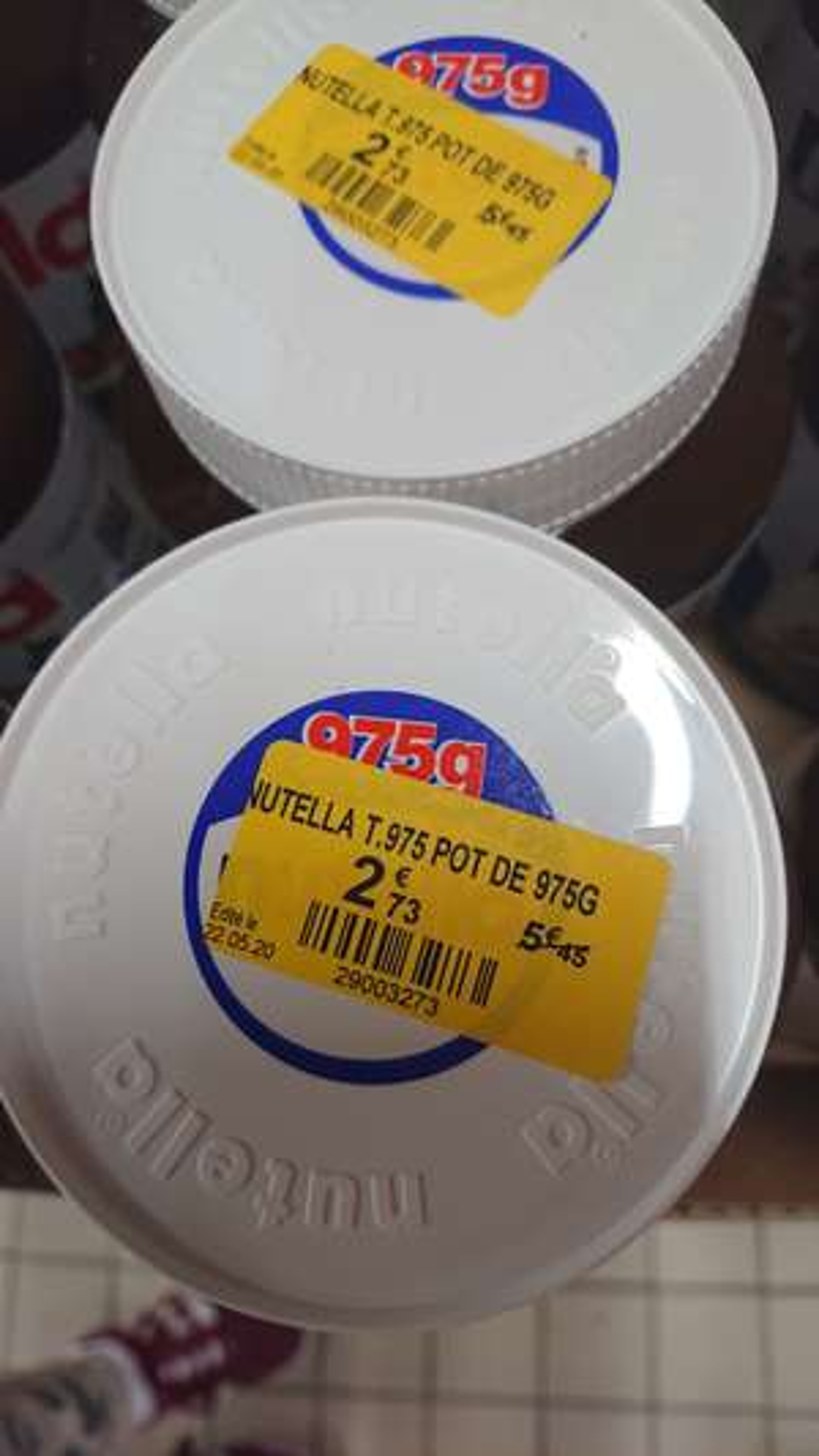 Pot de pâte à tartiner Nutella - 975g - Limoges (87)