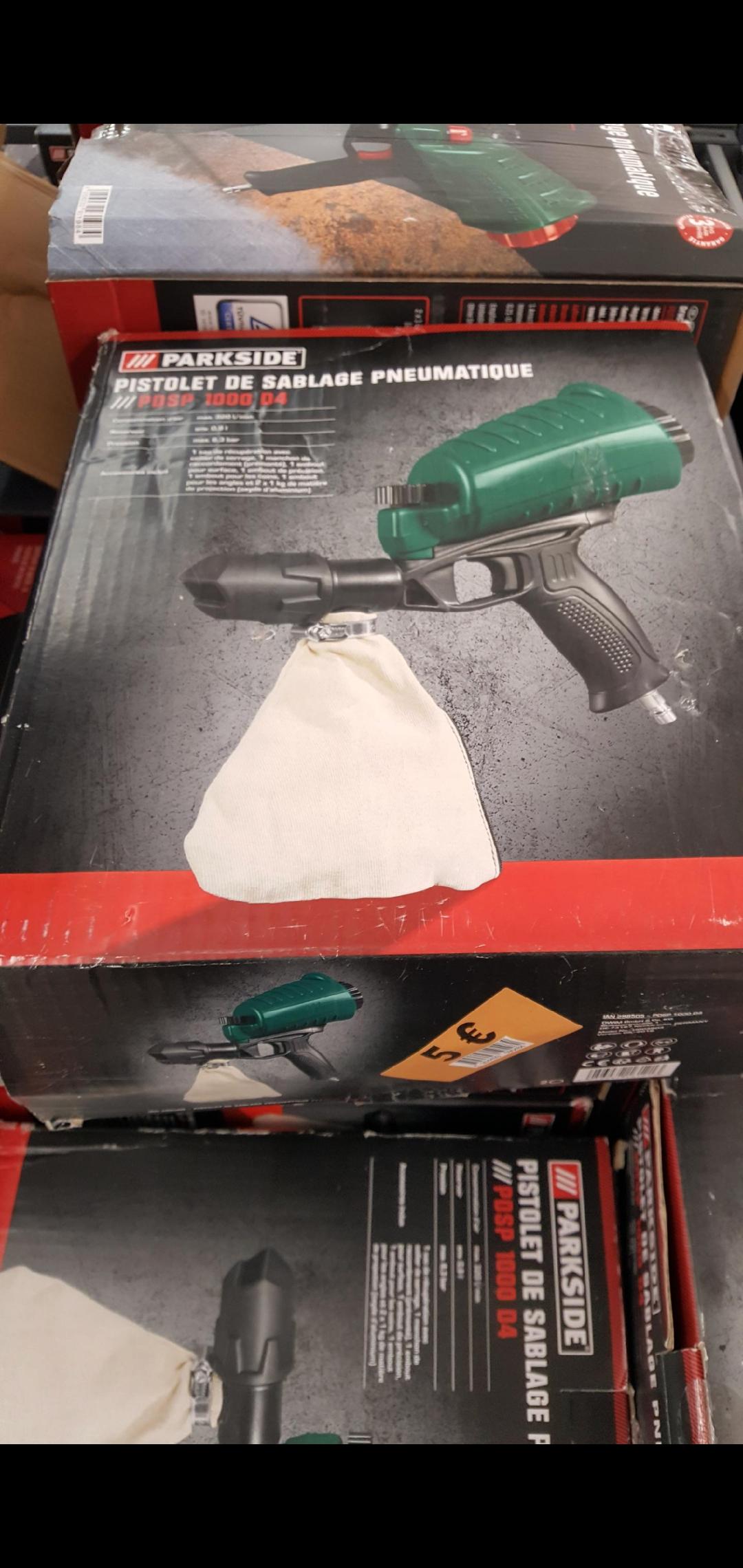 Pistolet de sablage pneumatique Parkside PDSP 1000 D4 - Douai / Waziers (59)