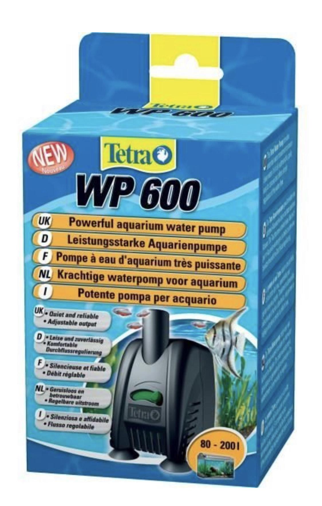 Pompe à Eau Tetra WP 600 pour Aquarium de 80 à 200L