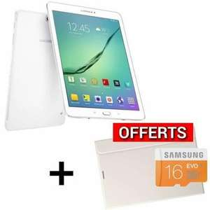 "Tablette 8"" Samsung Galaxy tab S2 - 32Go Wifi + Book cover + Micro SD 16Go (via ODR 50€)"