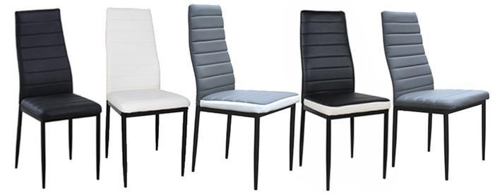 Lot de 6 chaises noires et blancs