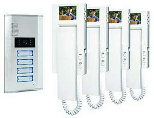 Portier vidéo Smartwares VD64 SW couleur/Visiophone/Interphone vidéo 4 combinés