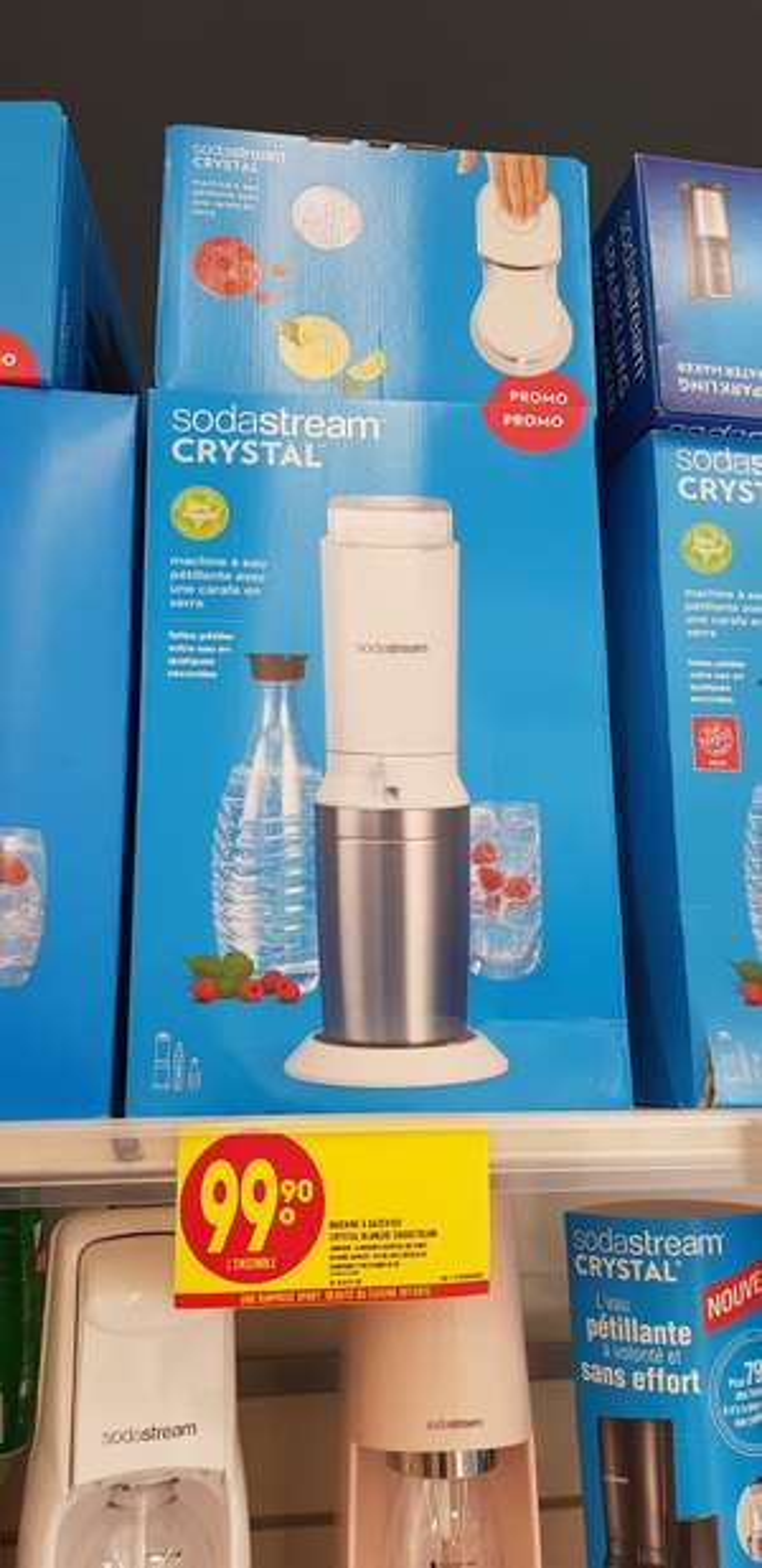 Machine à gazéifier l'eau SodaStream Crystal - Odysseum Montpellier (34)