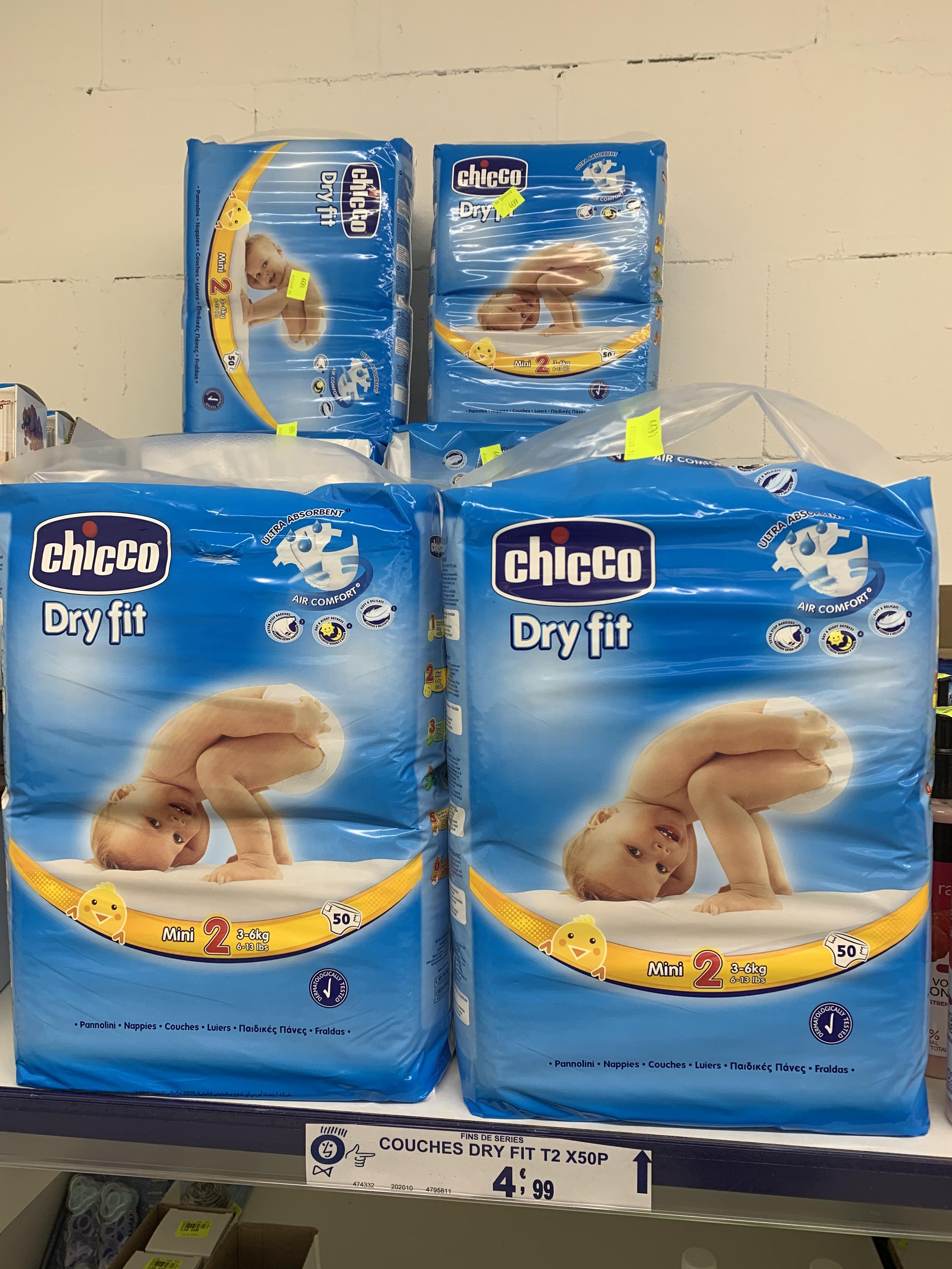 Paquet de 50 Couches Chicco Dry Fit - Noz de Morlaix et Brest (29)