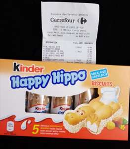 Biscuits Kinder Happy Hippo - Carrefour Barentin (76)