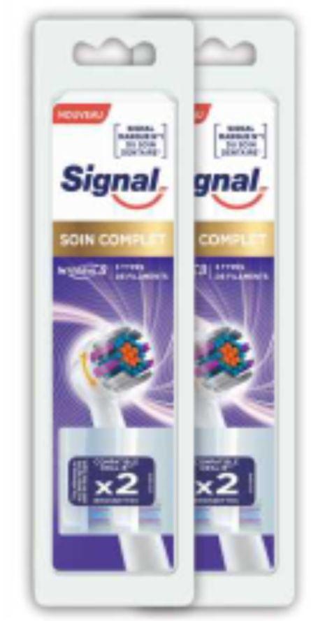 4 Brossettes Signal compatibles Oral-B - 2 x 2 (Via Shopmium)
