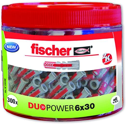 Lot de 300 chevilles Fischer Duopower - 6 x 30 mm