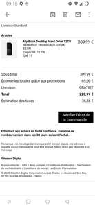 """Disque dur externe 3.5"""" Western Digital WD My Book - 12 To"""