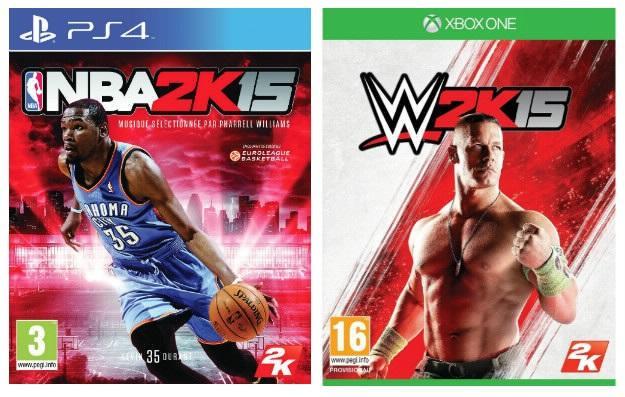 WWE 2K15 ou NBA 2K15 sur Xbox One et PS4
