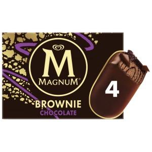 Sélection de crèmes glacées en promotion - Ex : Boîte de 4 Glaces Magnum - Brownie Chocolat, Caramel ou Framboise