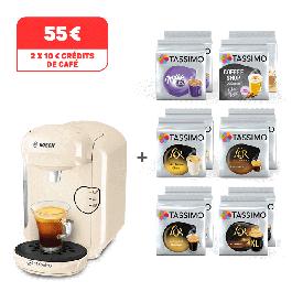 Machine à café Tassimo Vivy 2 + 12 paquets de capsules