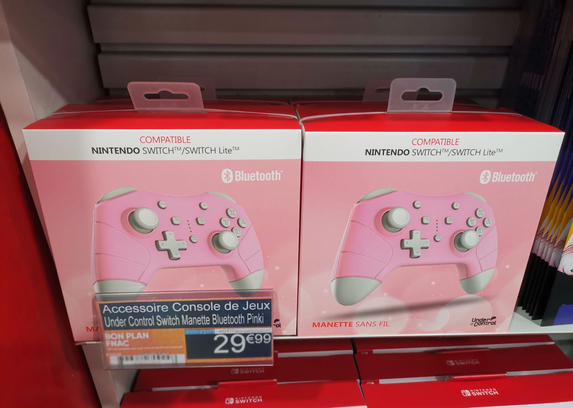 Sélection de manette Nintendo switch en promotion - Ex: Manette under control bluetooth Pinki - Ternes (75)