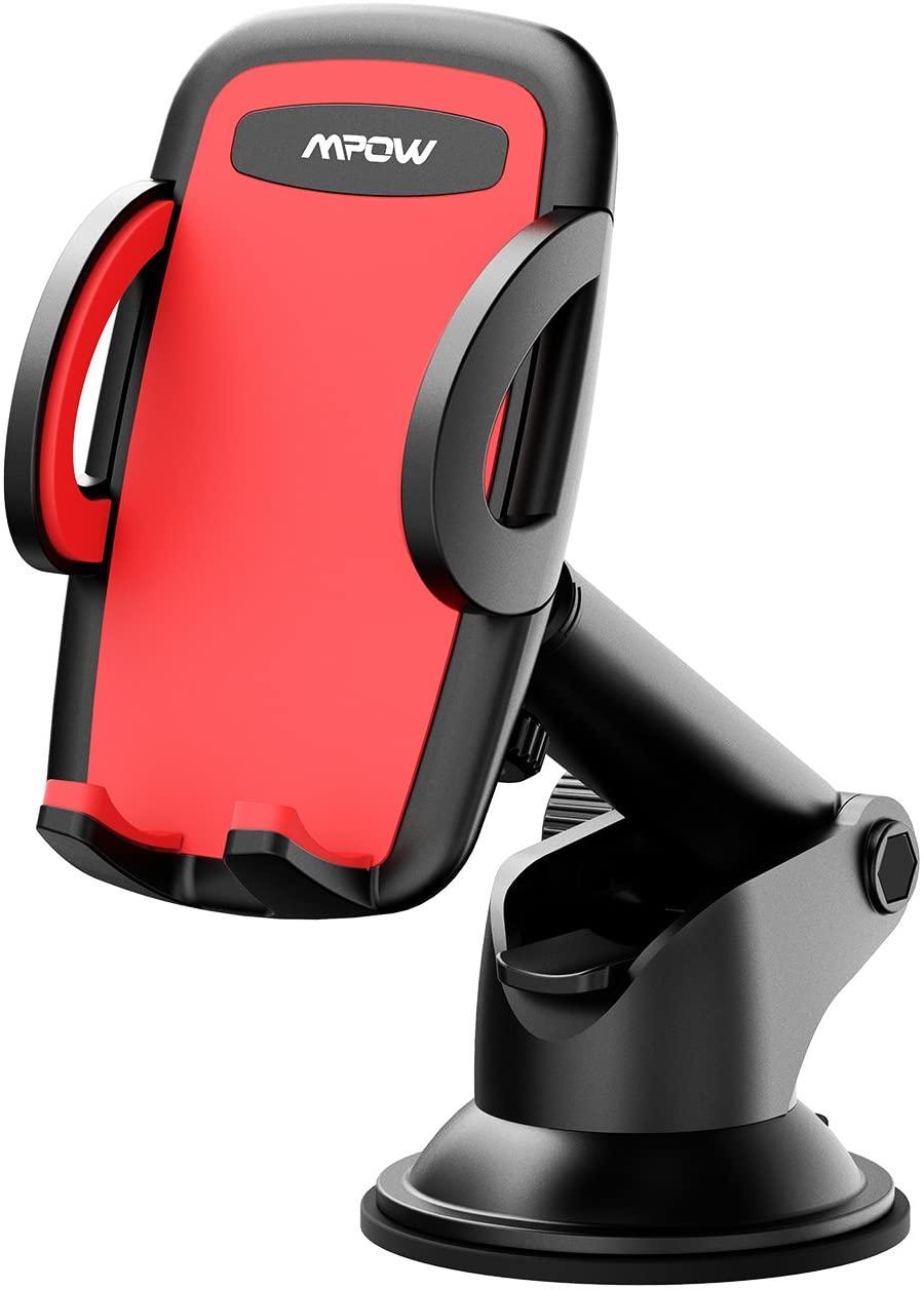 Support téléphone ventouse Mpow - 360° & Bras réglable, Largeur 6.6 à 10 cm, Bouton déverrouillage (Vendeur tiers)