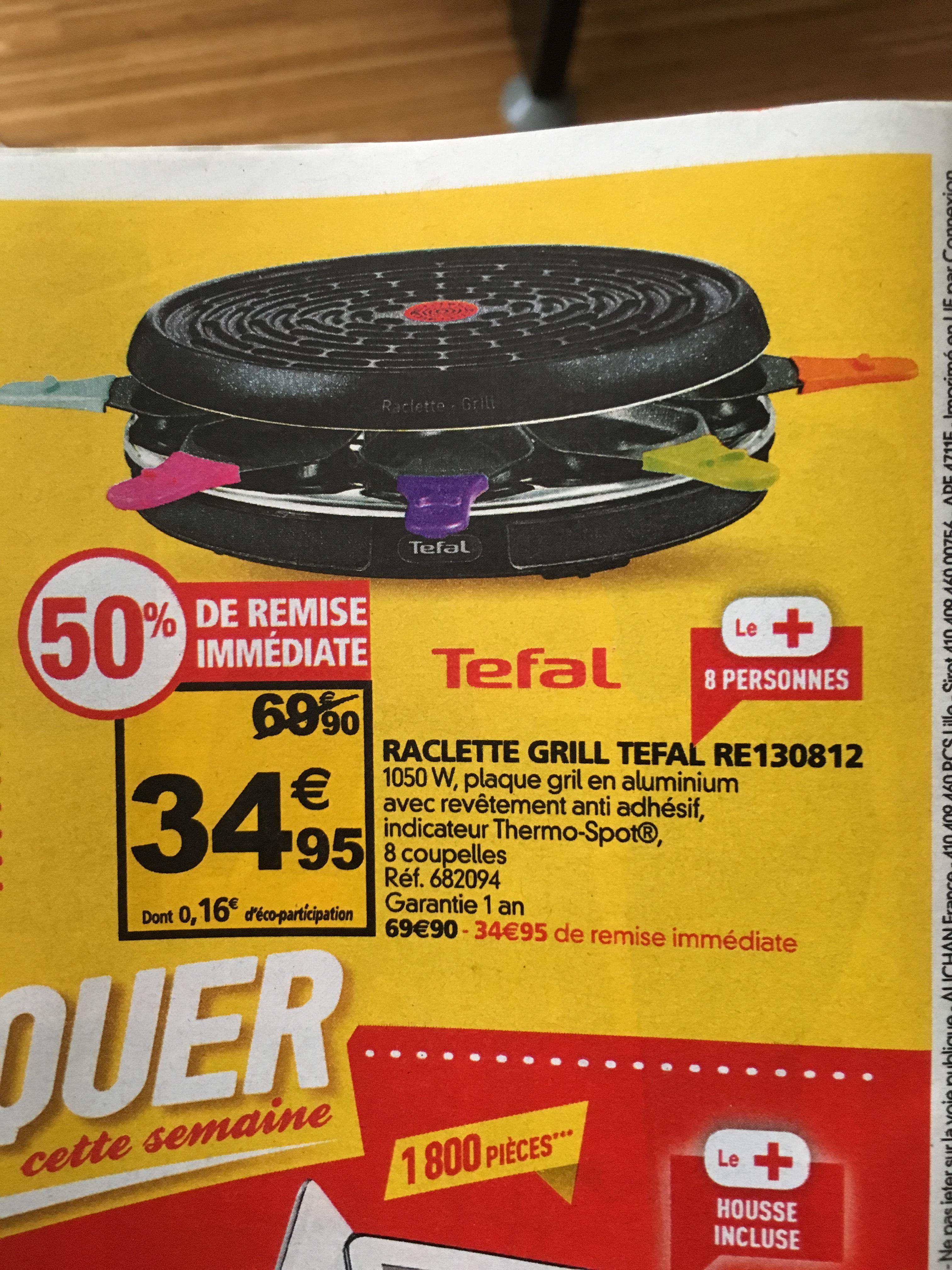 Appareil à Raclette Grill Tefal RE130812 - 8 personnes