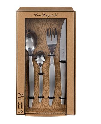 Ménagère Lou Laguiole Jet - 48 pièces