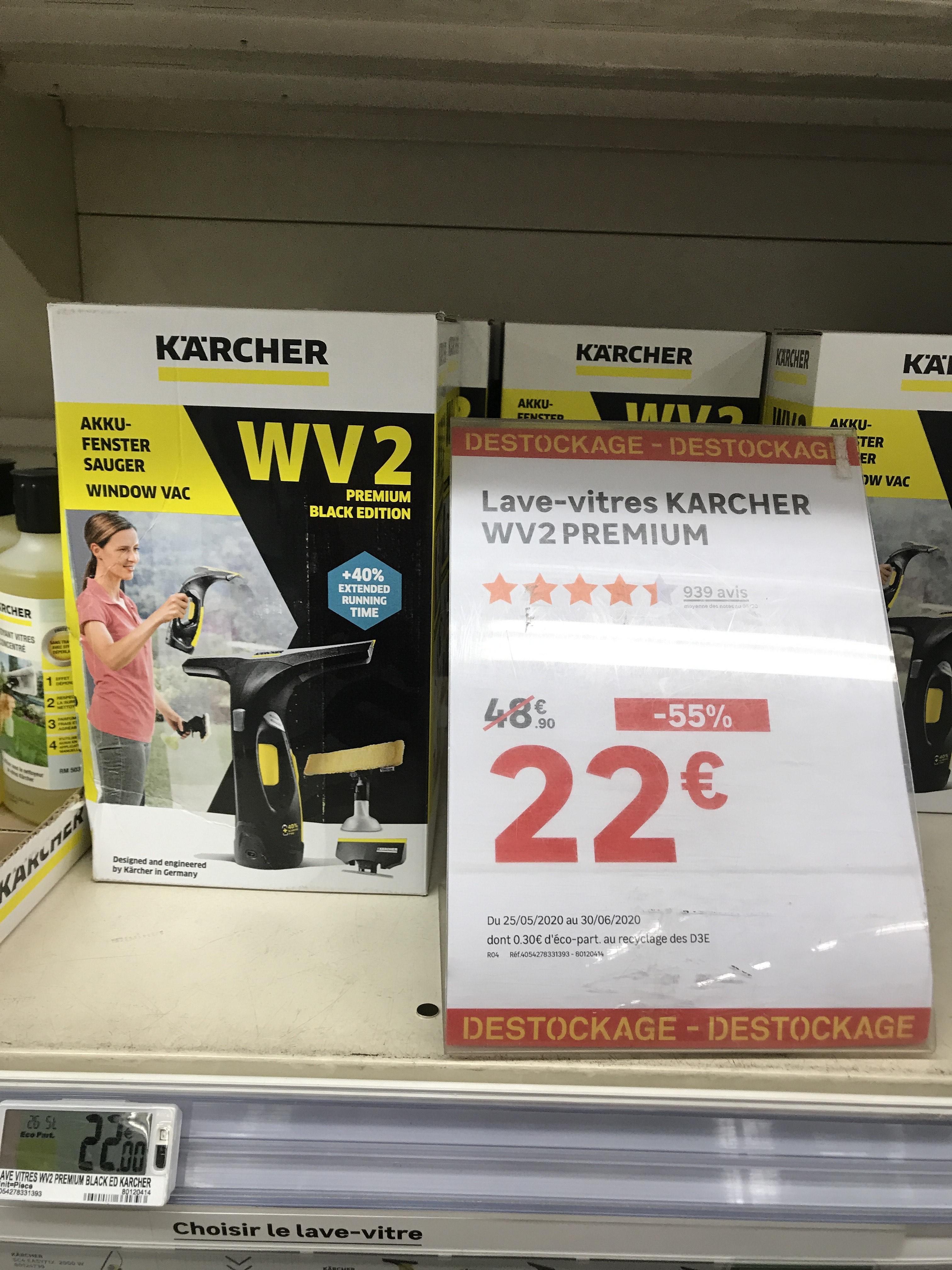 Nettoyeur de Vitres Karcher WV2 Premium Black Edition (Via ODR 10€) - Tassin (69)