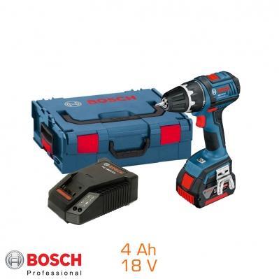 Perceuse Visseuse bosch Pro 18V - 1 bat Li-Ion 4Ah livree en coffret