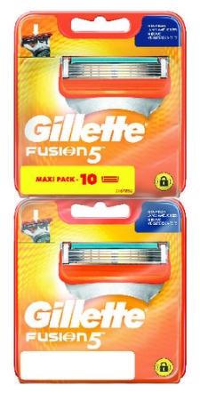 Pack de 10 lames Gillette Fusion 5 (via 14.37€ sur la carte fidélité)