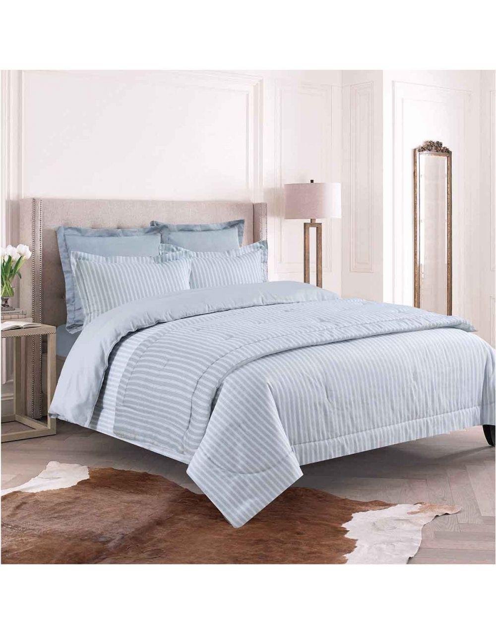 Parure de lit satin de coton 260x240cm + 2 Taies d'oreiller (senseimaison.com)