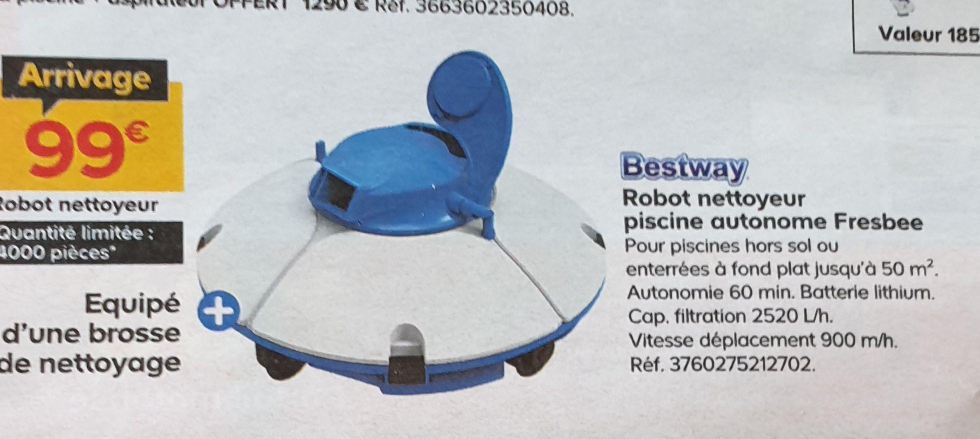 Robot nettoyeur piscine Bestway Fresbee - 15m²