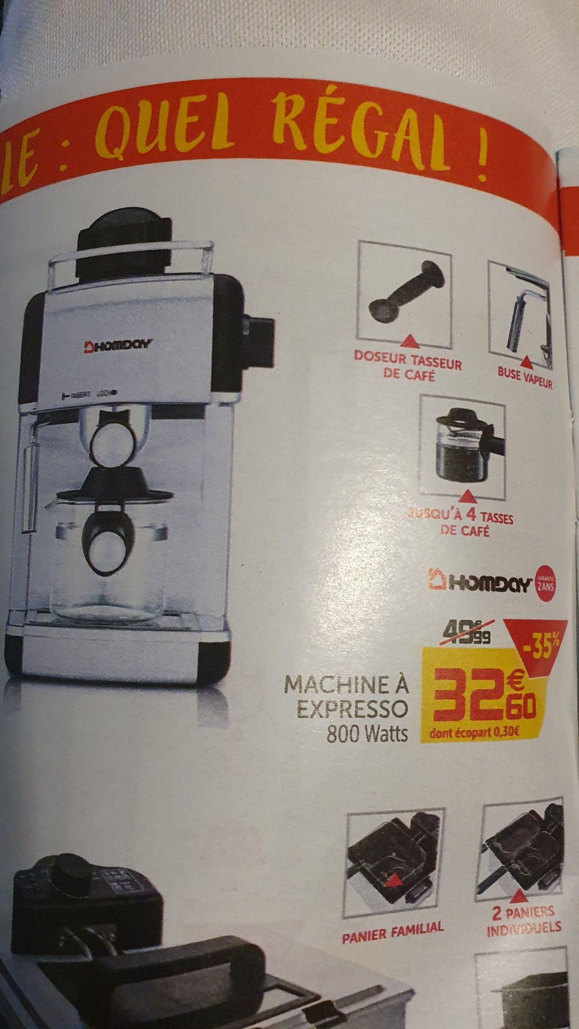 Machine à café Expresso Homday - 800 W