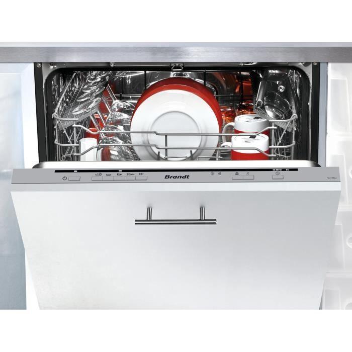 Lave-vaisselle Intégrable Brandt VH1772J A++ - 12 Couverts